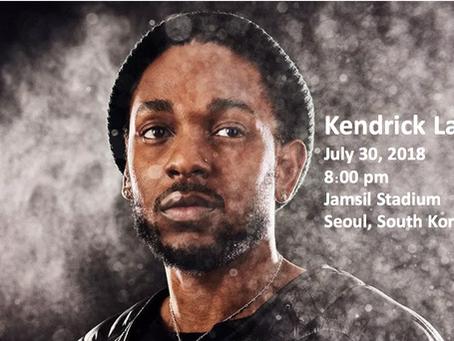 Kendrick Lamar Concert in Seoul, July 30
