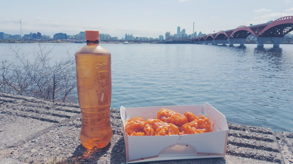 Food delivery in Korea, chicken and beer in Korea