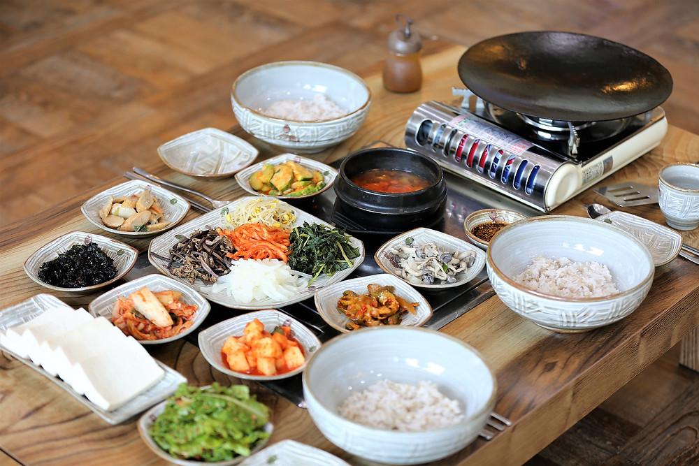 Korean vegetarian meal