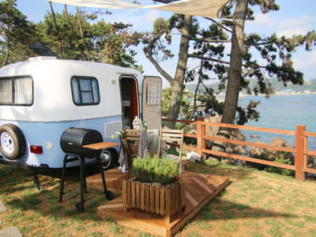 Travel to Korea | Caravan Camping in Korea: The Cutest Little Place to Stay in Busan