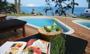 caravan resort with a pool in busan