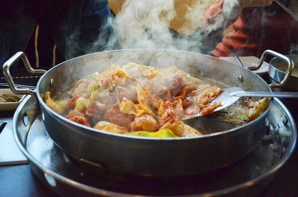 Cooking Korean food chicken