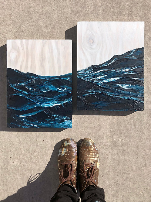 """Far From the Shallow 1& 2, each 12x16"""""""