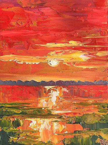 """Crimson Marsh, 12x16"""""""