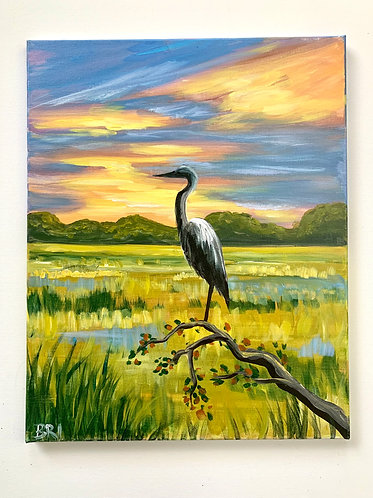 Autumn Heron 1
