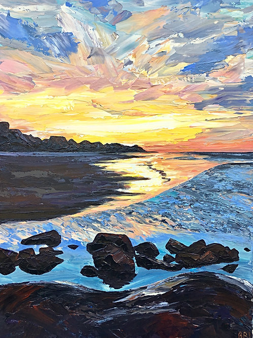 """Saturated Dawn, 36x48"""""""