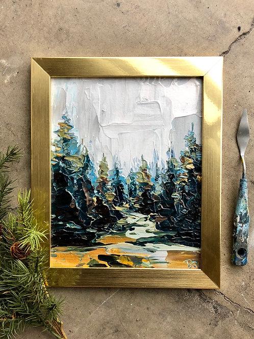 "Through the Pines, 8x10"""