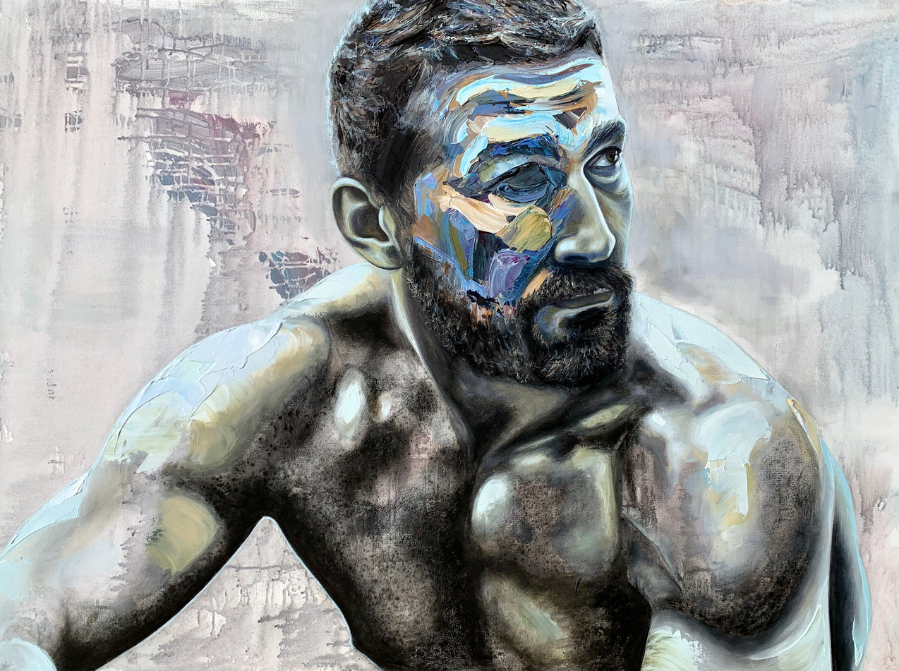 """man in the arena   36x48"""""""