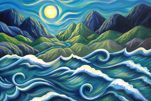 Mountains Meet the Sea PRINT