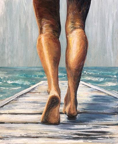 """SALT BOARDWALK Textured Giclee 20 x 30"""""""