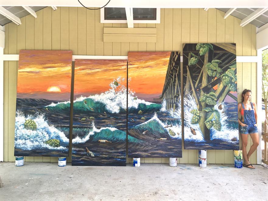 Famulari's Brewpub Folly Pier Mural