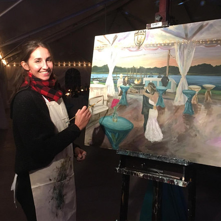Wedding Live Painting!