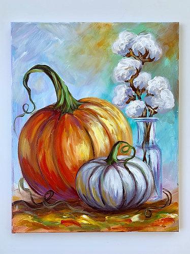 Pumpkins + Cotton