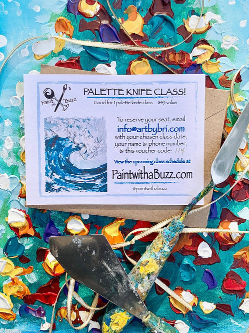 Palette Knife Gift for One