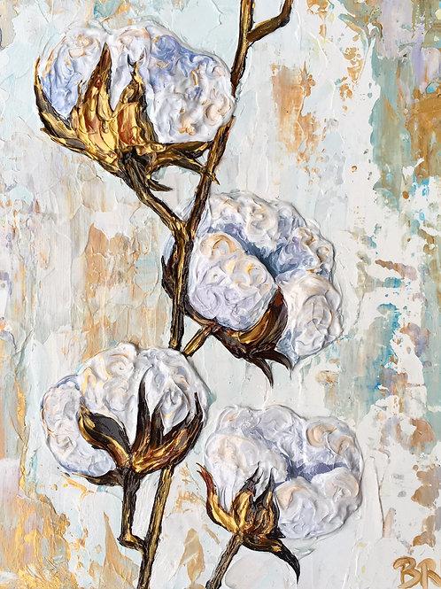 "Tarnished Cotton, 12x16"""
