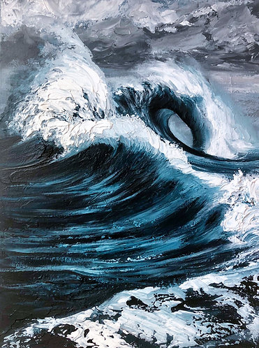 "Bipolar Swell, 18x24"""