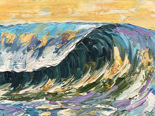 "Chartreuse Sea, 12x16"""