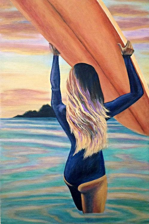 Sunset Paddle GICLEE