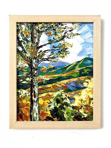 Wild Acres Mountainside, framed