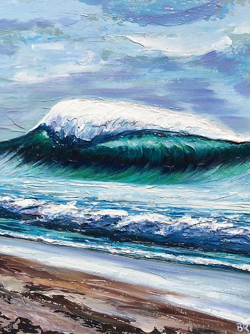 "Volcanic Coast, 18x22"""
