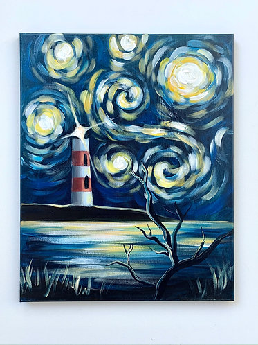 Starry Night at the Lighthouse