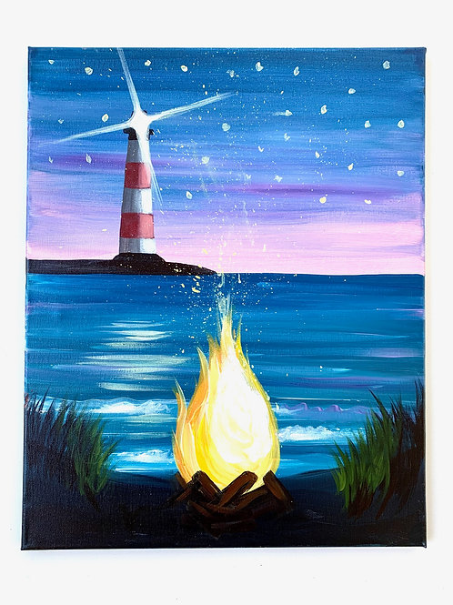 Bonfire at the Lighthouse
