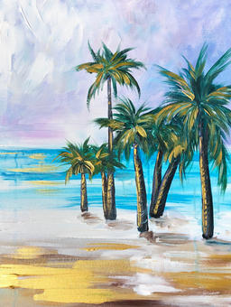 Gold and Lavender Palms