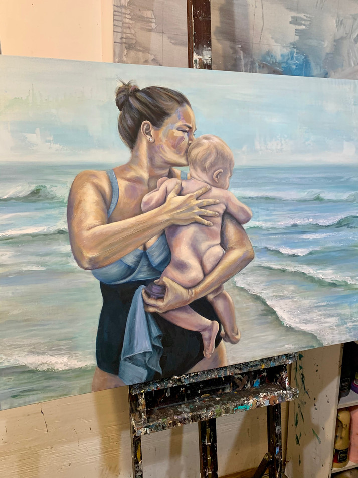 """30x40"""" Momma and baby commission"""