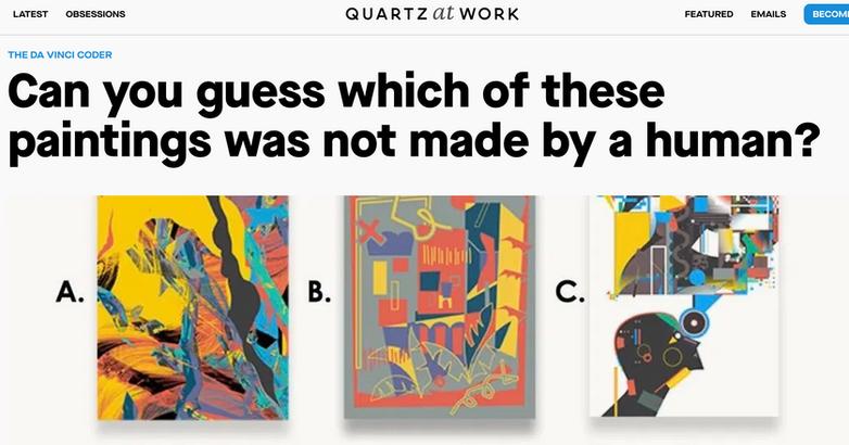 Art.ificial AI v. Human Quartz Magazine