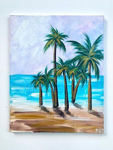 Gold Lavendar Palms