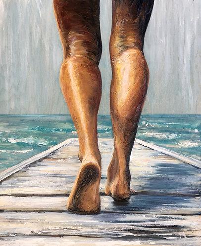 Salt Boardwalk Giclee