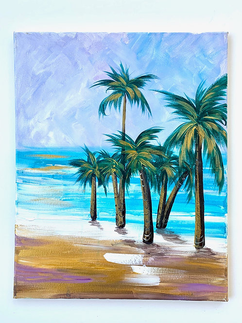 Gold + Lavendar Palms