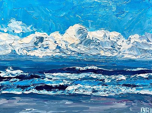 "Cerulean Shore, 12x16"""
