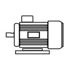 electric-motor-black-color-icon-clip-art
