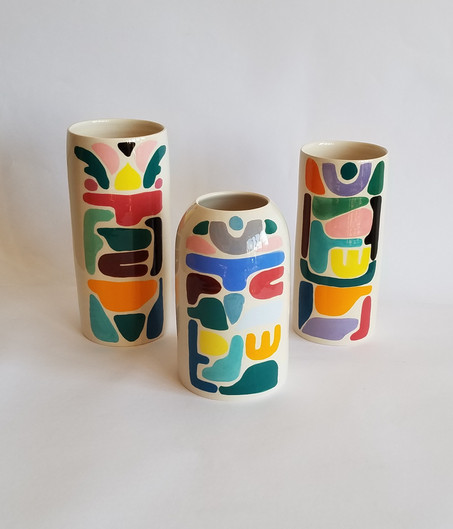 Vases totems