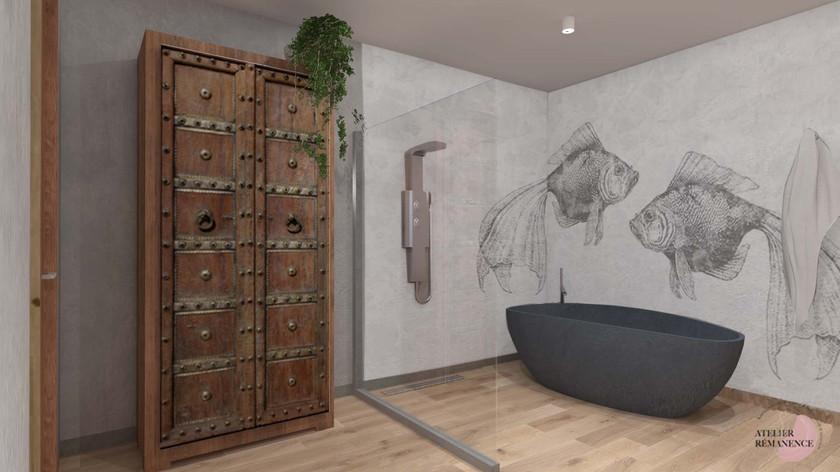 Salle de bain Wabi sabi