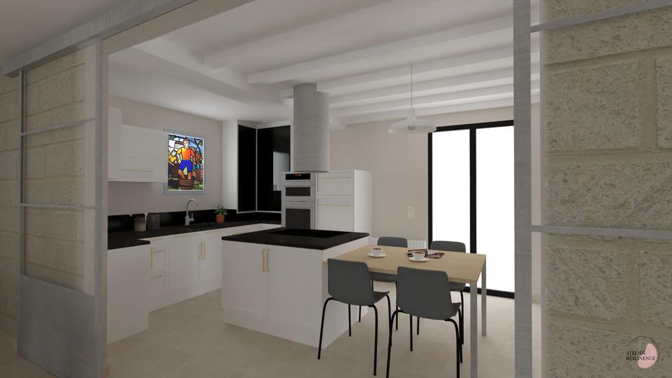 Réaménagement et ouverture de la cuisine sur la pièce de vie