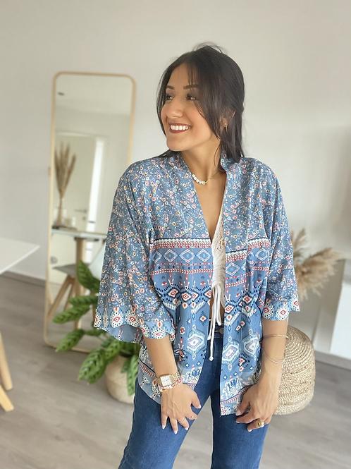 Kimono bleu court HOLY