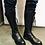 Thumbnail: Bottes hautes à lacets en cuir VITELLI NERO 227