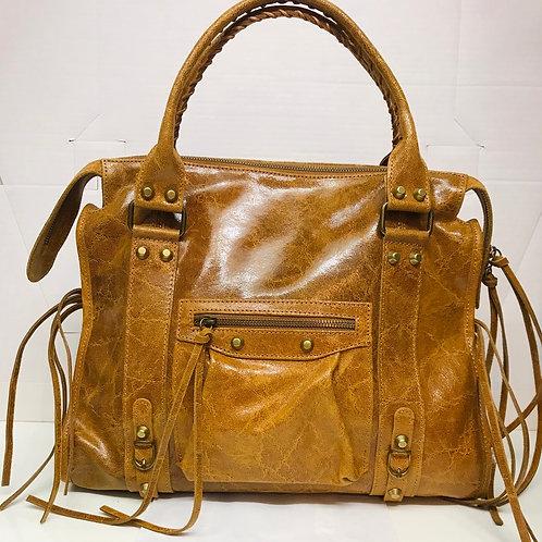 Grand sac en cuir Barbara camel