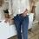 Thumbnail: Jeans mid waist bootcut  FABRICE bleu foncé