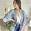 Thumbnail: Kimono bleu court HOLY