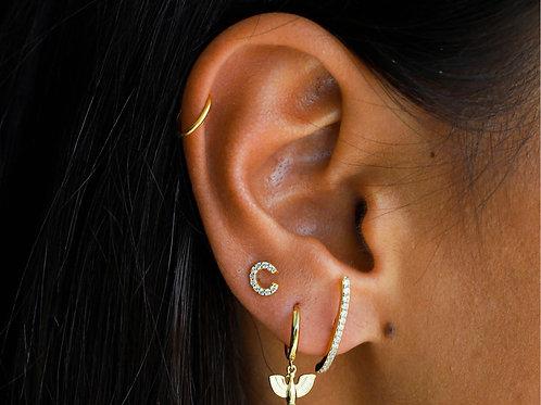 Boucles d'oreilles ALPHABET C dorées