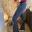 Thumbnail: Pantalon jeans bootcut bleu