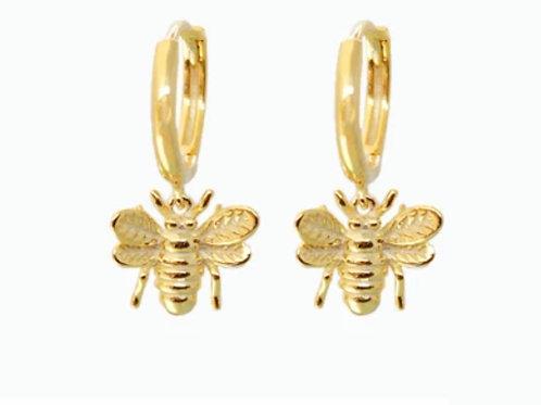 Boucles d'oreilles BEE dorées