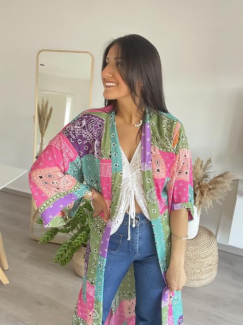 Kimono court COLORA fuschia