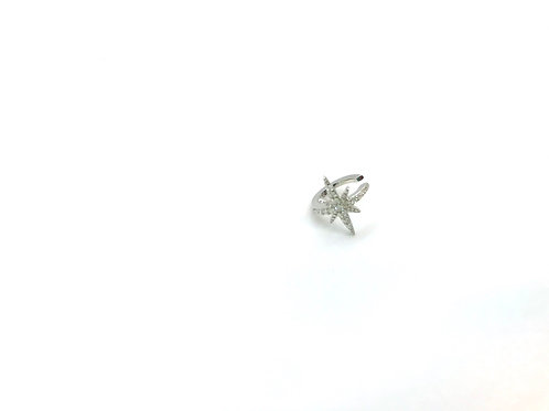 Boucle STARRY CUFF argent massif