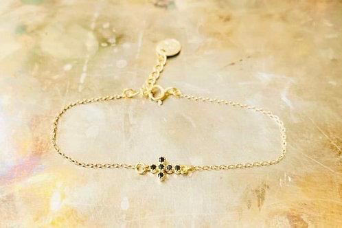 Bracelet Carlota pierres noires