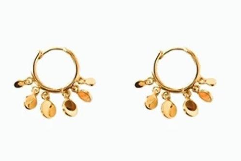 Boucles d'oreilles ÉLISE dorées