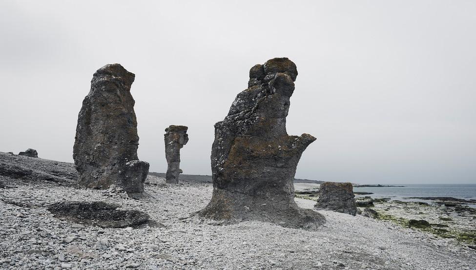 Stone formation, Rauk on Gotland